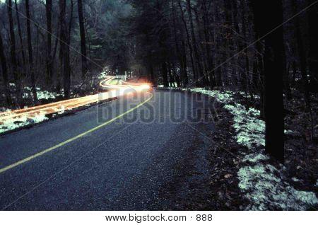 Car Light Trail