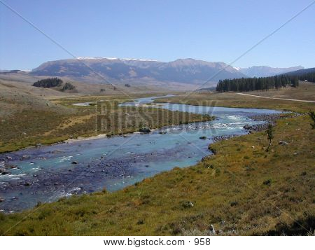 Wyoming - River And Mountains