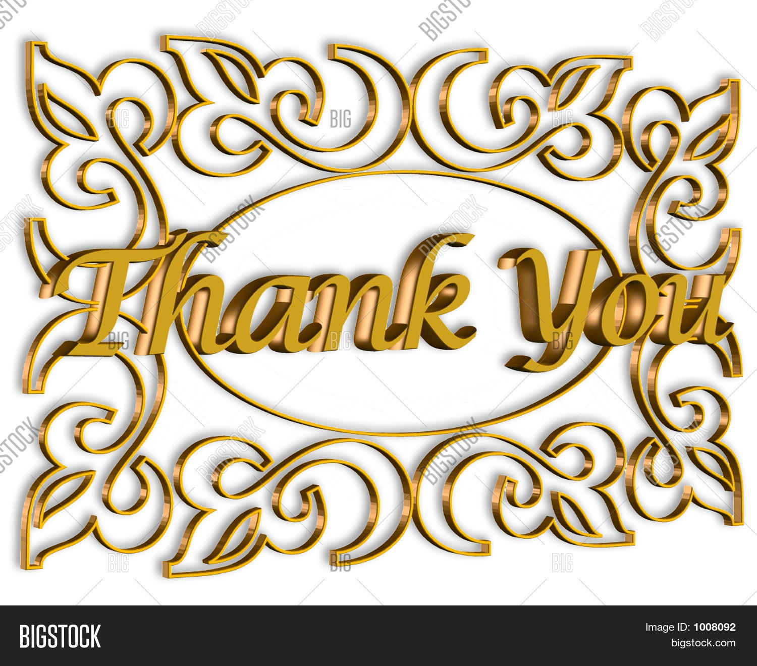3D Thank You Stock Pho...