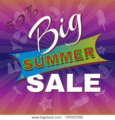 Big Summer Sale Promotion Flyer.