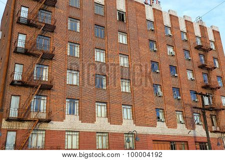 Reno, Usa - August 12: Closeup Of Apartment Building On August 12, 2014 In Reno, Usa. Reno Is The Mo