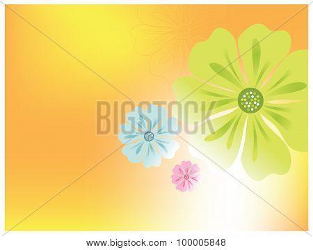 Flower vector background