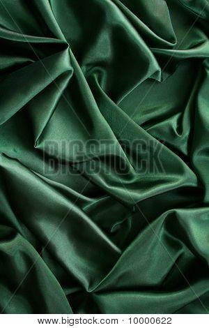 光滑优雅暗绿色丝绸