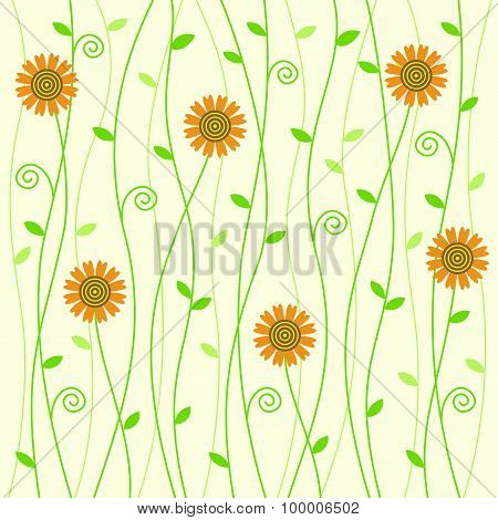 Flowery Vine Background Pattern