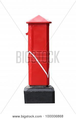 Red Postbox Isolated On White.