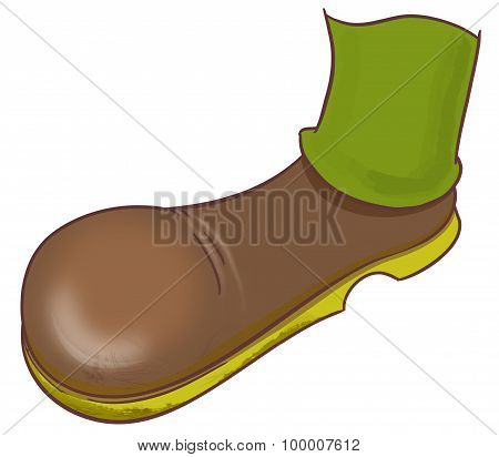 Man Foot In The Brown Boot