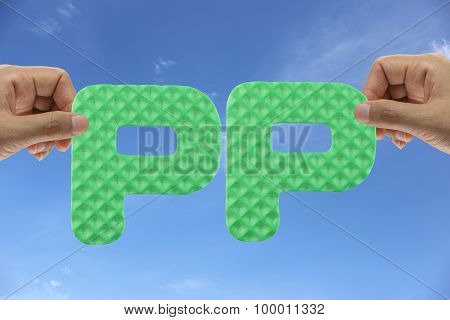 Hand Arrange Alphabet Pp Of Acronym Partners Program.