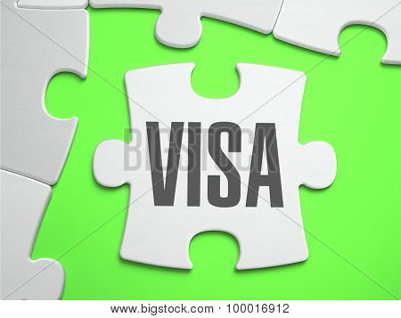 Visa - Jigsaw Puzzle with Missing Pieces.