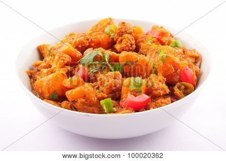 Dry Aloo gobi Indian and Nepali cuisine
