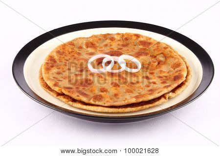 Traditional Aloo Paratha from Indian Cuisine.