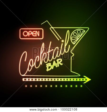 Neon Sign Cocktail Bar