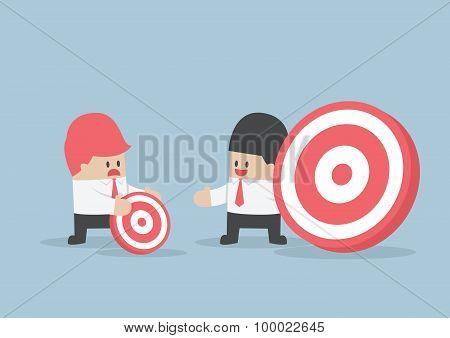 Businessman Has Bigger Target Than His Friend