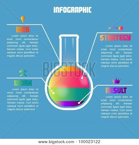 Infographic with color test tube