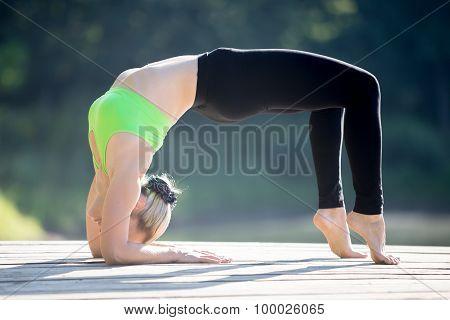 Variation Of Bridge Pose