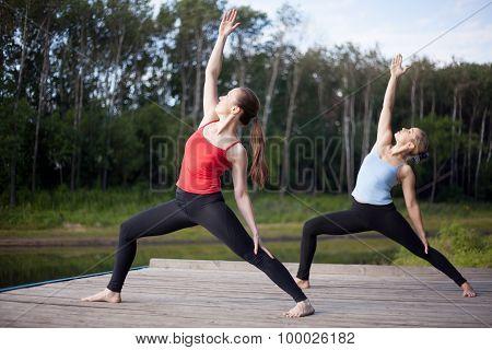 Yoga Class: Viparita Virabhadrasana Pose