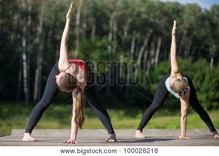 Yoga Class: Trikonasana Pose