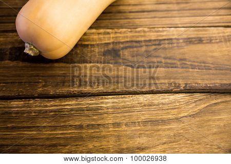 Butternut squash on table shot in studio