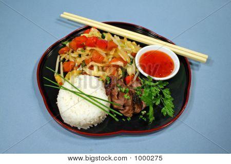 Lamm mit Stir Fry Gemüse 1