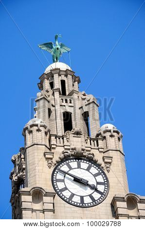 Royal Liver Building Clock Tower.