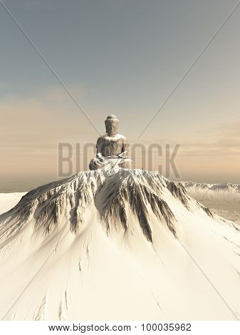 Snow Covered Mountain Buddha