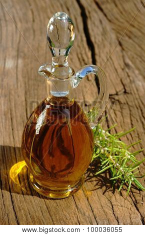 Glass Carafe Of Olive Oil