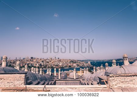 high view of bosphorous sea and Istanbul city