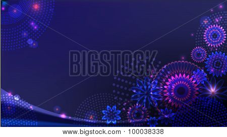 Abstract dark-blue background