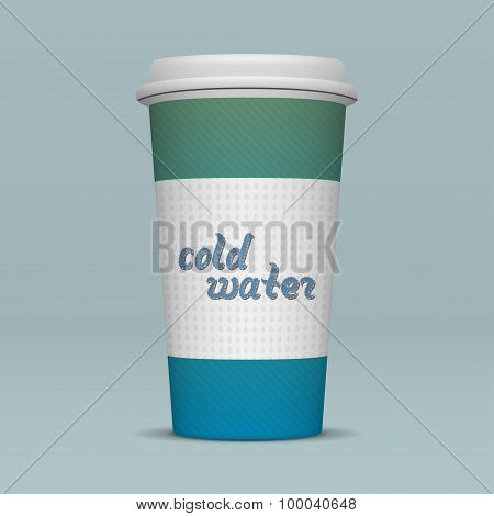 Paper Cup of cold Water