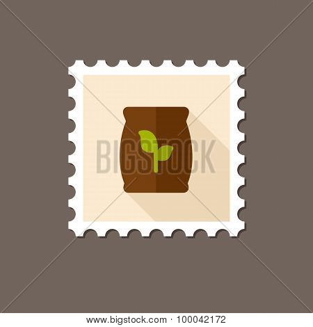 Fertilizer Flat Stamp With Long Shadow