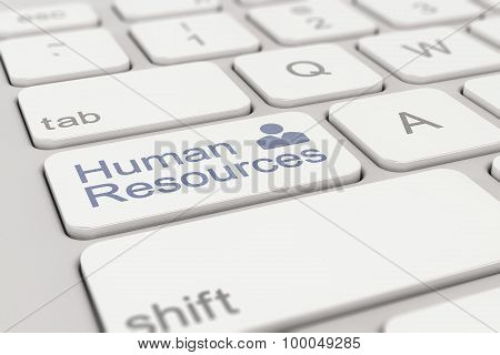 Keyboard - Human Resources - White-blue