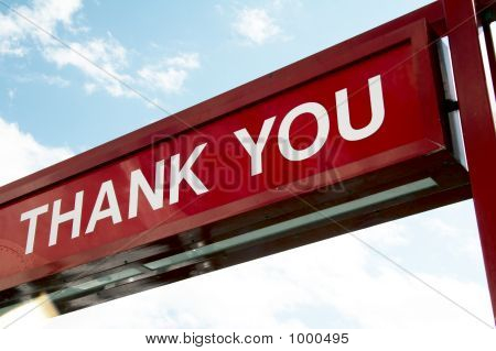 Sign - Thank You