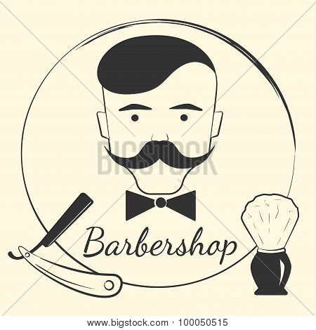 Barber with barber tools