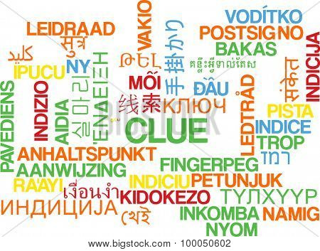 Background concept wordcloud multilanguage international many language illustration of clue