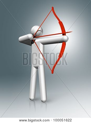 Archery 3D Symbol, Olympic Sports