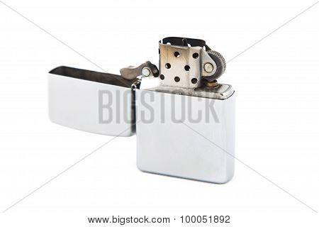 Photo gray open gas lighter