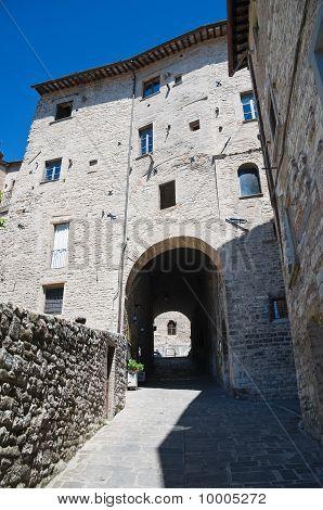St. Ubaldo House. Gubbio. Umbria.