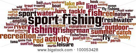 Sport Fishing Word Cloud