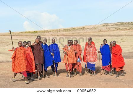 Masai People In Tanzania