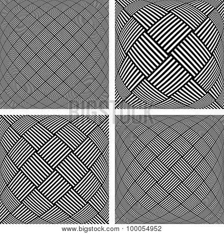 Abstract textured backgrounds set. Vector art.