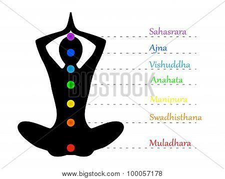 Yoga teacher and chakras