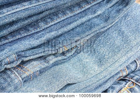 Lot of different blue jeans, Blue Jeans