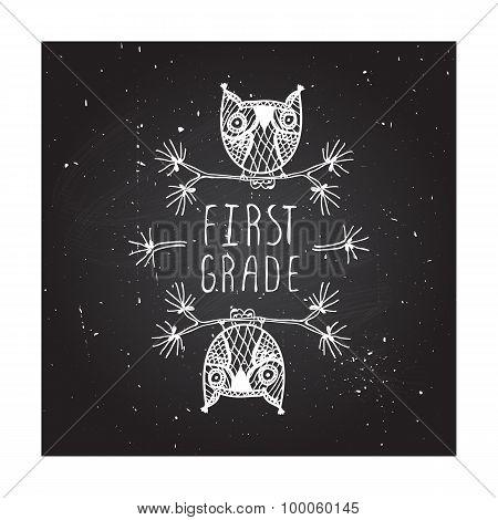 First grade - school poster
