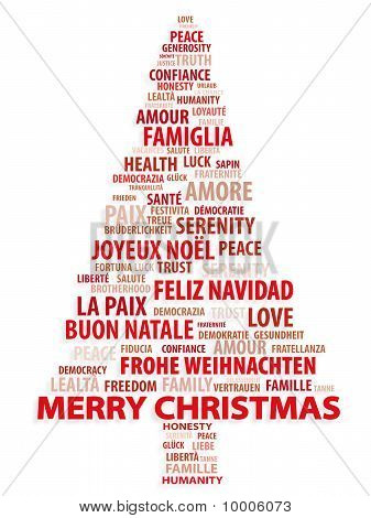 Merry Christmas In Different Languages.Merry Christmas In 10 Different Languages Poster