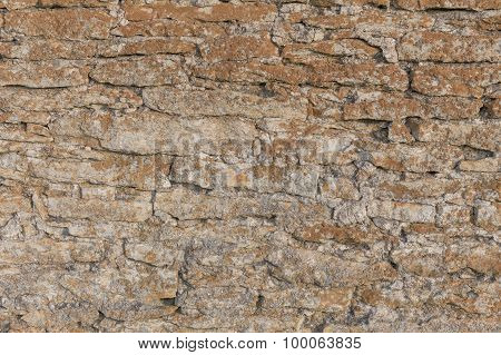 Old Stone Wall Texture With Moss