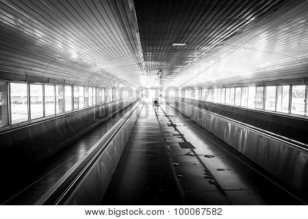 Train Walkway Bw