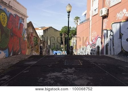 Calcada Do Lavra Street In Lisbon