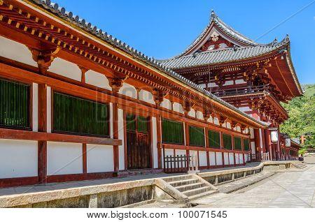 Wooden Main Building Of Todaiji Temple In Nara, Japan