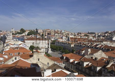 Lisbon Rossio Square Overview