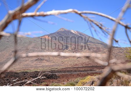 picturesque landscape of teide national park on tenerife, spain
