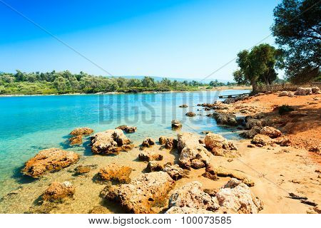 coastal landscape on Cleopatra's island